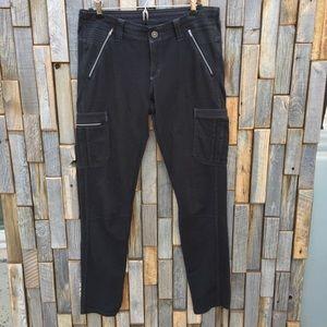 Woman's Kuhl athletic pants bottom black size 8